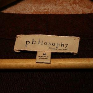 Philosophy Sweaters - Philosophy Neck-Tie Soft Rayon Long Sleeve Sweater